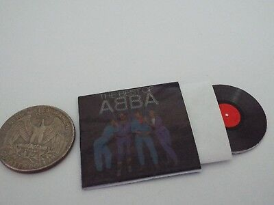 1 Miniature  'The Best of ABBA' record album Dollhouse 1:12 scale
