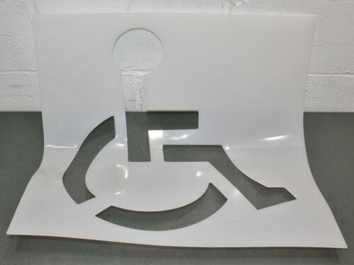 """C.H. Hanson Handicap Symbol Stencil 70340, 21-1/2"""" x 21-1/2"""", Parking Lot, Paint"""