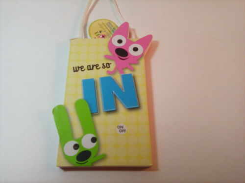 """Hallmark """"Hoops & YoYo"""", Talking """" We Are So In/Out Door Hanger with tag"""