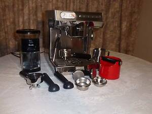Sunbeam Caffe Series Coffee Machine, Breville Grinder and Accesso Lockleys West Torrens Area Preview