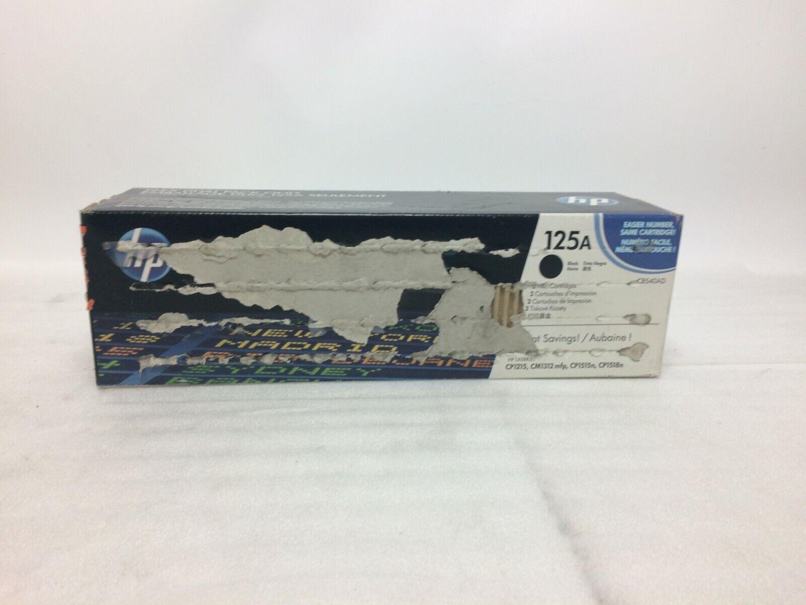Brand New Sealed Box Genuine HP 125A  CB540AD  Black Toner DUAL PACK