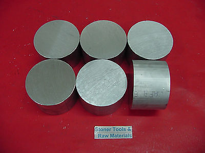 6 Pieces 3-18 Aluminum 6061 Round Rod 2 Long T6511 3.125 Od Lathe Bar Stock