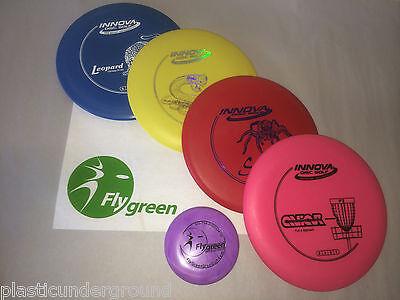 NEW INNOVA DISC GOLF CUSTOM BUILT FRISBEE 4 DISK STARTER SET PICK FROM 40 MODELS](Custom Frisbee)