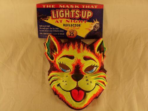 Plastic Vintage Halloween Mask Costume Reflector Star Brand Rare w Original Card