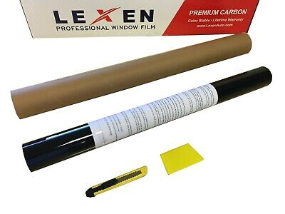 "Lexen 2Ply Premium Carbon 20""X10' Roll Window Tint Film 20""x10' Limo Shade 5%"