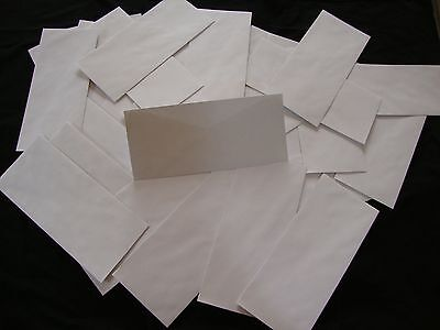 50 No. 10 Security Letter Envelopes Top Flight White 4.1x9.5 Tinted Paper Stic