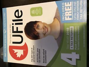 UFILE 2018 - good for four 2018 T1 personal tax returns