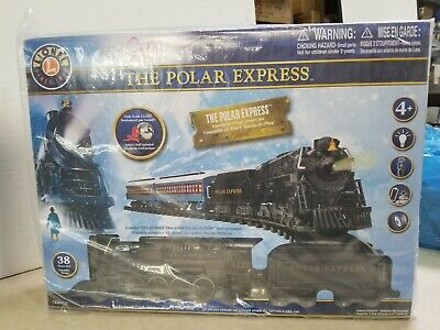 The Polar Express Lionel Train Set w/ Remote Sound Christmas Train 38 PC Sealed