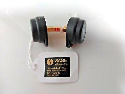 Sage Model Swb-12045-hb Wr-12 Waveguide E Band 45 E-plane Bend