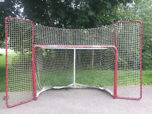 Hockey net  with side panels