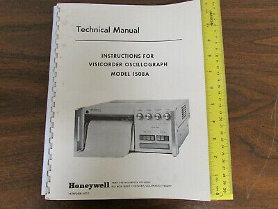 Honeywell Visicorder Oscillograph 1508a Technical Manual Wschematics