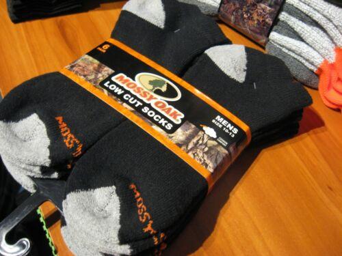 6 Pair Mossy Oak Mens Low Cut Socks Size 10-13 Cotton Poly Blend Cushion Comfort