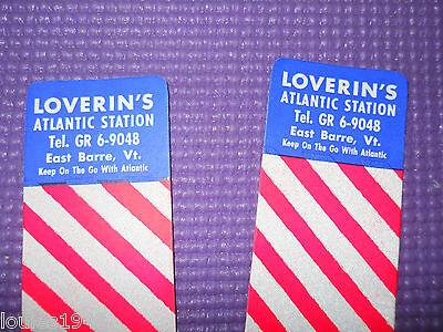 LOVERIN's ATLANTIC Gas Station EAST BARRE VT SAFETY REFLECTORS 1950's Original