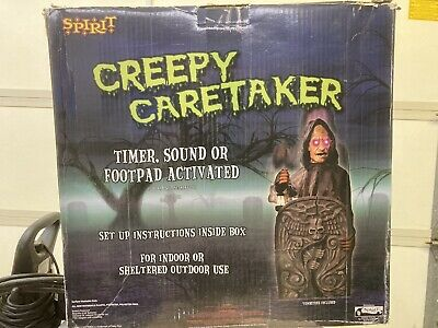 SPIRIT HALLOWEEN CREEPY CARETAKER ANIMATED PROP