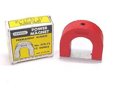 New  General Tools Alnico Power Horseshoe Magnet  42 Lb  Pull  No  370 12