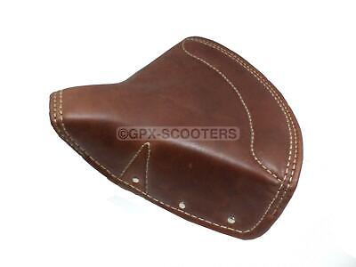 NEW TAN PURE LEATHER FRONT SEAT COVER FOR BSA TRIUMPH ROYAL ENFIELD ST