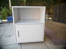 SMALL WHITE BEDSIDE TABLE/OFFICE CABINET South Penrith Penrith Area Preview
