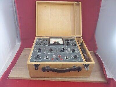 Vintage Superior Instruments Co. Tube Tester Model 600-a Wooden Travel Case
