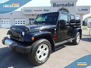 JEEP WRANGLER UNLIMITED SAHARA BLUETOOTH+ALPINE+ROUES DE 18''