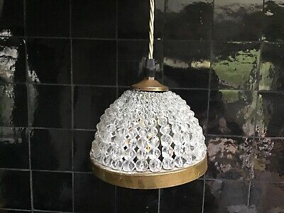 Chandelier Lampshade With Plug Hanging Bedside Table Lamp Silk Cord Cable Small