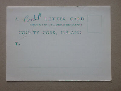 COUNTY CORK IRELAND Vintage Cardall Letter Card 5 Natural Colour Photographs