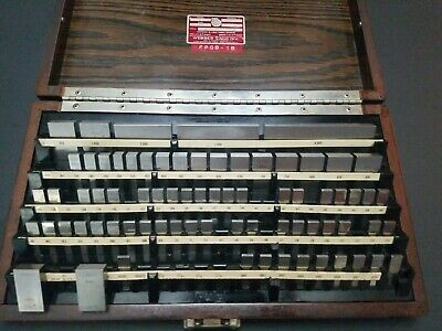 Calibrated Starrett Webber Gage Block Set Gauge 4 - .1005 Machinist Metrology
