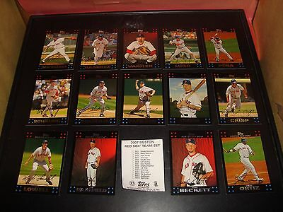 - Boston Red Sox 2007 Complete Topps Baseball Card Team Set 14 Cards Mint ORTIZ