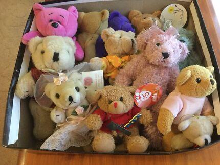 Box of Small Teddy Bears $6