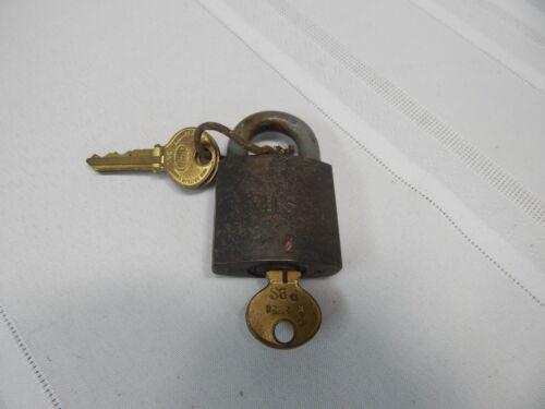 Vintage! U.S. Military Corbin Cabinet Lock with Working Keys New Britain Conn.