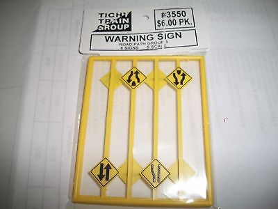 Tichy S Scale Road Path  Warning Signs  #3   8 pieces  #3550  Bob The Train Guy