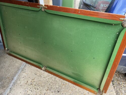 Vintage 6x3 Riley Slate Bed Snooker Table For Restoration + Legs, Balls and Cues
