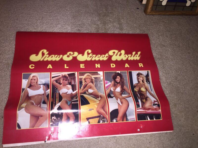 Rare Show & Street World Hot Rods & Girls Calendar 1989 71 Cuda Vw Bug Pick-Ups
