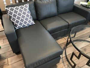 Brand new modern sectional and arm chair grey