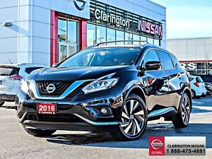 2016 Nissan Murano Platinum AWD 24,302 KMS.  JUST ARRIVED!