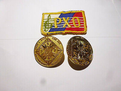 PAIR OF RUSSIAN SCOUTING BADGES AND CHOIR PATCH CENTENNIAL 100 YEARS OF SCOUTS