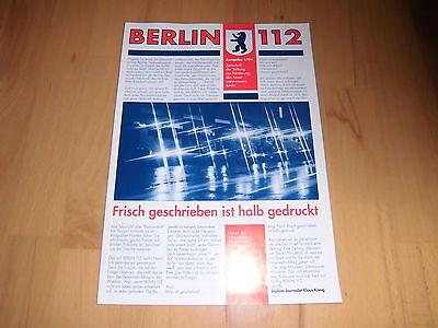 BERLINER FEUERWEHR BF Berlin B 112 Magazin 1/1994 ERSTAUSGABE 12 Seiten