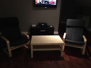 Chairs and coffee table