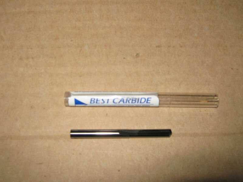 """# 42 (.0935) SOLID CARBIDE STRAIGHT FLUTE 140DEG NOTCHED POINT DRILL BIT """"NEW"""""""