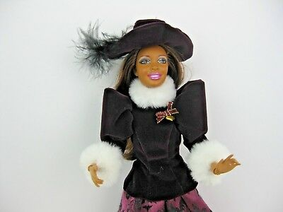 DOLL CLOTHES ONLY, FITS Barbie & fashion dolls HOLIDAY TRADITIONS PURPLE  HAT