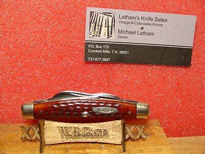 CASE XX 1940-64 MEDIUM CONGRESS 4BL RED BOVINE BONE HANDLES