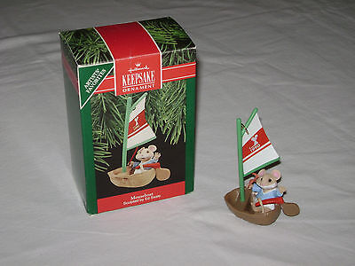1990 Hallmark Ornament Mouseboat