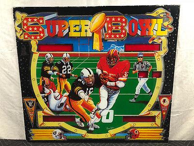 Bell Games Super Bowl Pinball Machine Game Backglass Raiders Red Skins