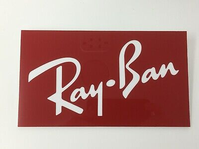 Ray-Ban retail sign engraved on glass like 3.5mm (Ray Ban Like Glasses)