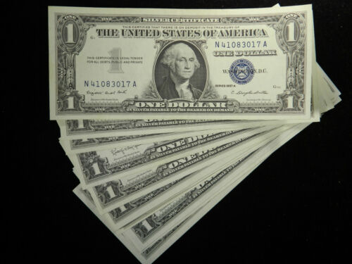 1957 Blue One Dollar Note $1 Silver Certificate AU/UNC US Currency
