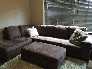 Corner modular lounge couch sofa chaise with ottoman 5 seater