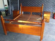 Queen Bed Frame with Bedsides Cranebrook Penrith Area Preview
