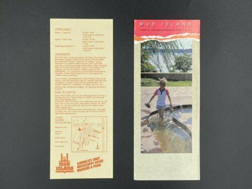 VINTAGE MUD ISLAND Brochure + Insert Page (1987) Memphis, TN   HARD TO FIND!