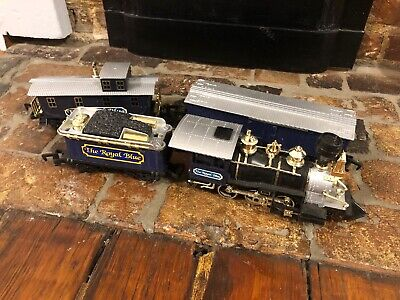 Christmas Toy State Industrial Train Set Holidays The Royal Blue O Gauge Western