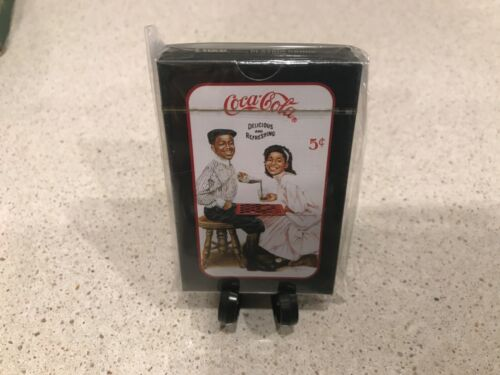 "Vintage Rare Coca Cola Black Americana Ad Playing Cards Deck ""Winning Smiles"""