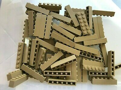 LEGO PARTS-BRAND NEW-#3009-DARK TAN 1 X 6 BRICK-25 PIECES
